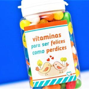"""BOTE CHUCHES Regala sonrisas: Vitaminas para """"ser felices como perdices"""""""