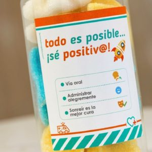 BOTE CHUCHES Regala sonrisas y optimismo: sé positivo, todo es posible