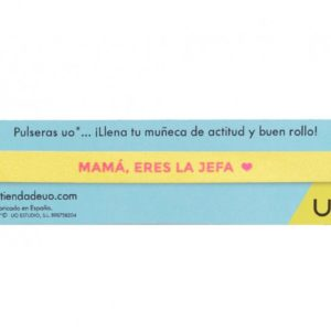 """Pulsera """"Mamá eres la jefa"""".Mostaza.Uo"""